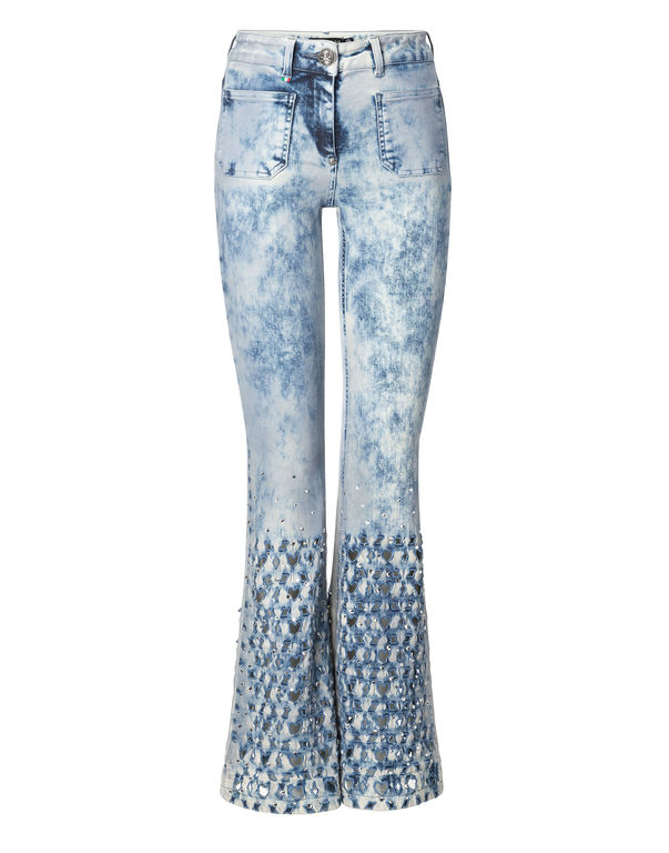 "fcb4ff6eb46c9 PHILIPP PLEIN High wasted flare ""Campbell J."" Jeans California Blue – Femme"