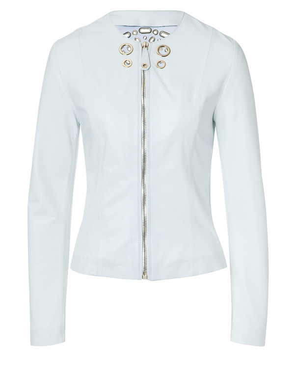Blanc Jacket Leather Femme Avery Plein Philipp Veste XaCEqpWxw
